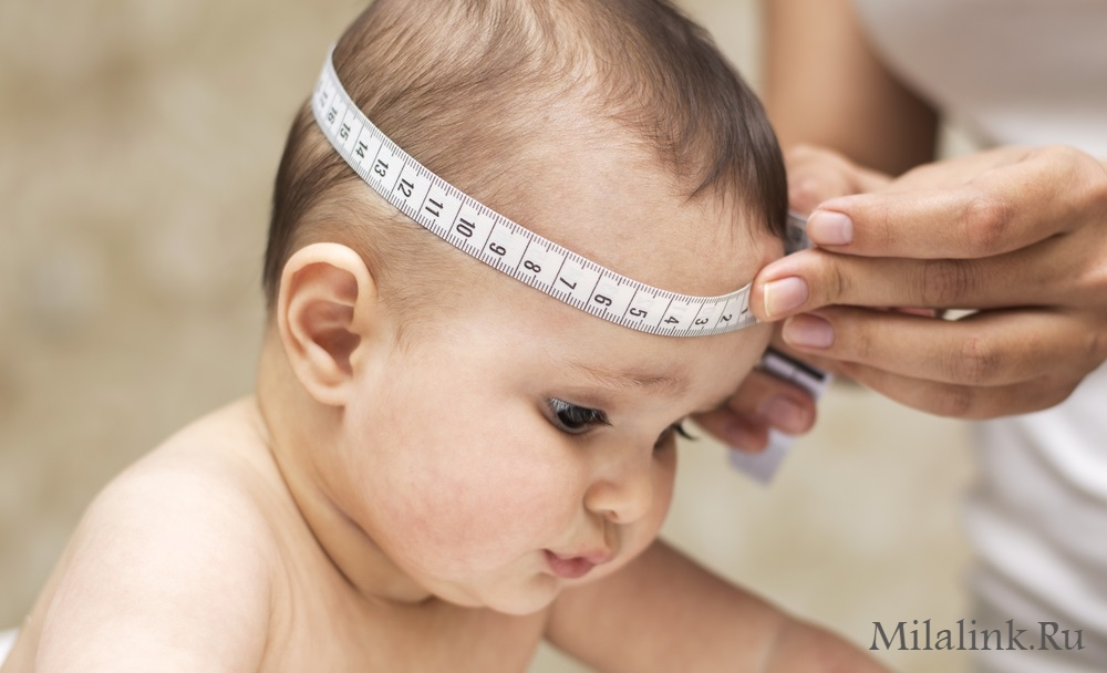 Размеры головы ребенка по месяцам: нормы и отклонения