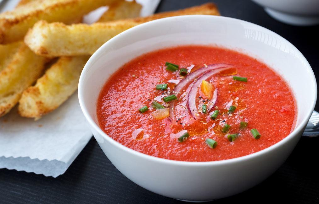 суп из томатов рецепт с фото местечко, утопающее зелени